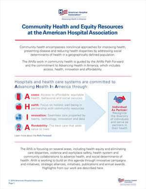 AHA community health initiatives